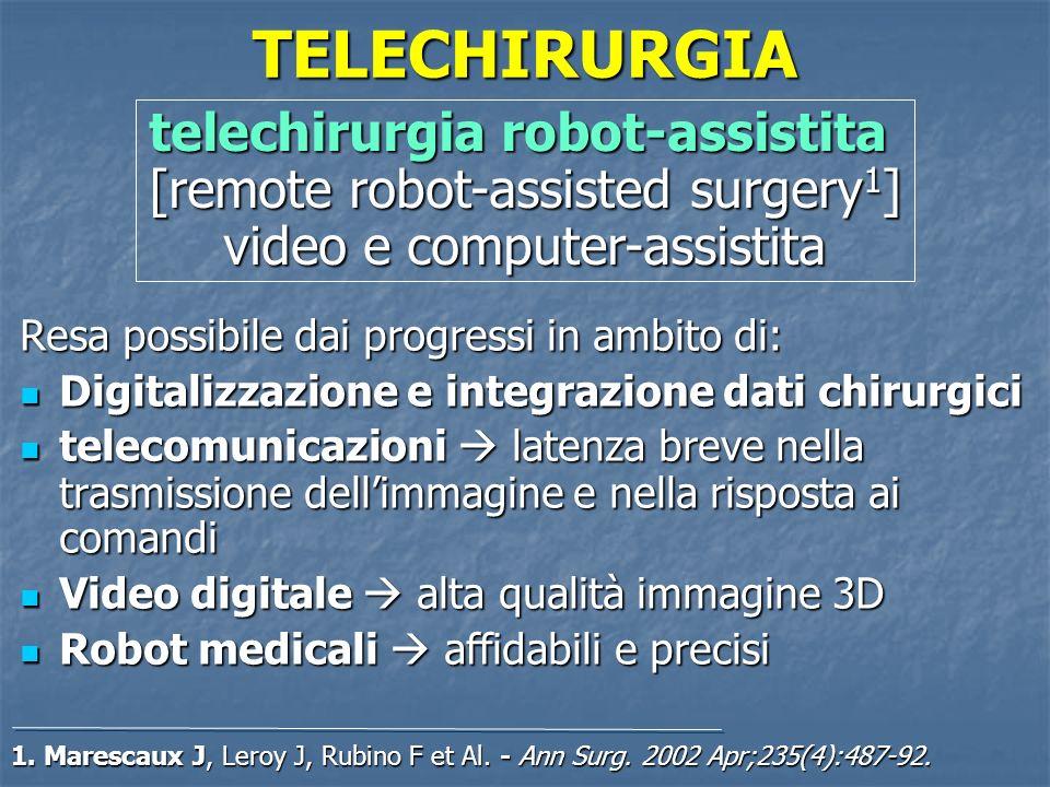 TELECHIRURGIAtelechirurgia robot-assistita [remote robot-assisted surgery1] video e computer-assistita.